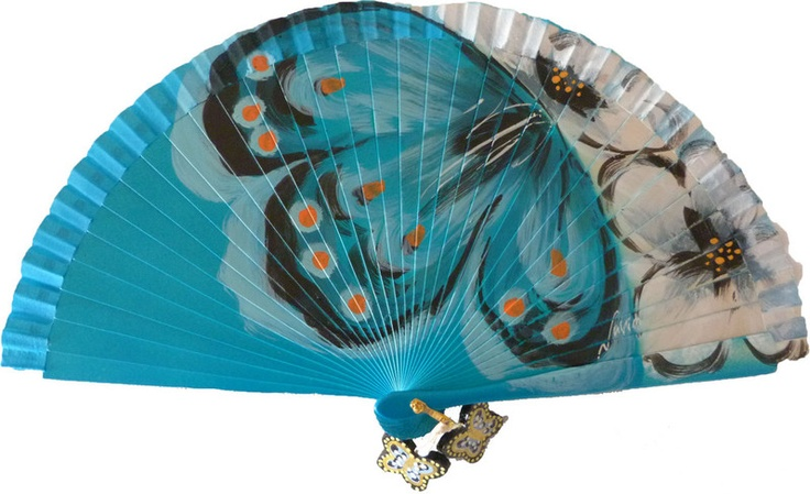 Blue Spanish fan