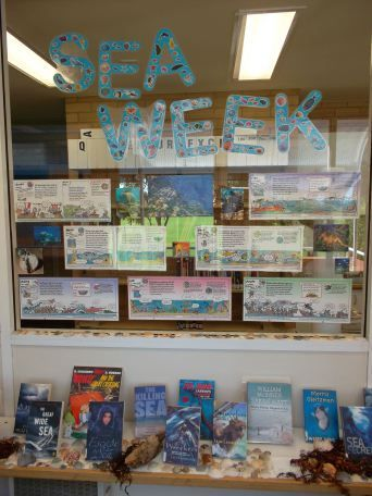Sea Week (library display) | Capturing the fun in my library