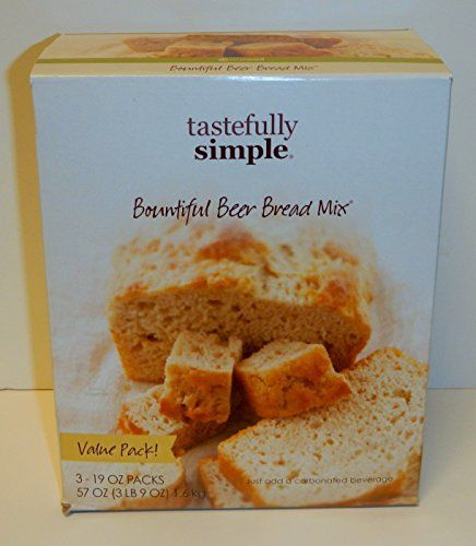 Tastefully Simple Bountiful Beer Bread Mix Value Pack 319oz Packs -- Check out the image by visiting the link.(This is an Amazon affiliate link and I receive a commission for the sales)