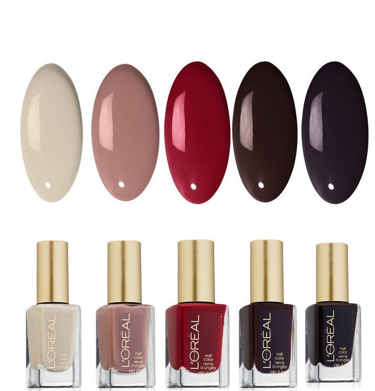 L'oral Paris Dark Color Nail Polish - 5 Pack