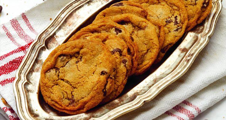 De här är verkligen oslagbara – tunna, men inte för tunna, knapriga i kanterna och sega i mitten, lagom söta och mättade med choklad.