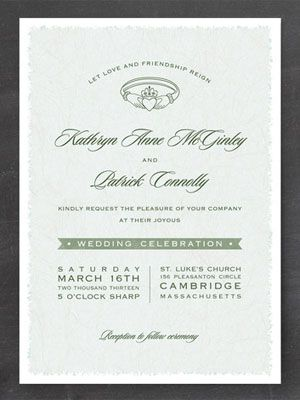 17 best irish wedding invitations images on pinterest | irish, Wedding invitations