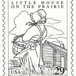 Bluebonkers Famous Books Stamp Coloring Pages Little House On throughout Little House On The Prairie Coloring Pages