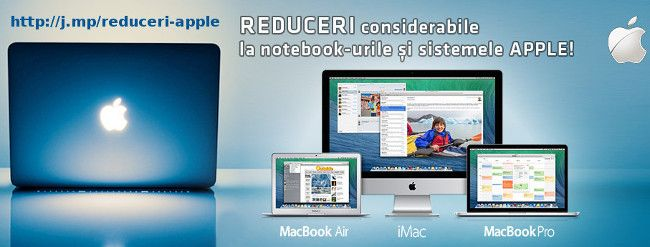 Reduceri la notebook-uri si sistemele Apple
