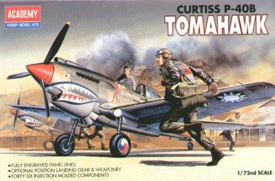 Curtiss P-40B Tomahawk. Academy, 1/72, injection, No.12456. Price: 3,74 GBP.