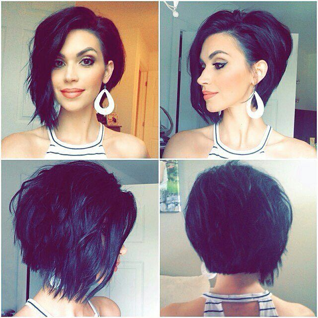This is @nicholle_chapan's beautiful asymmetrical bob she got this summer! Are you thinking about getting a bob haircut? DM me a picture of yourself if you're looking for more haircut ideas and I'll try to give advice.