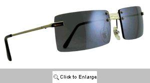 Fight Rectangular Rimless Sport Sunglasses - 148 Silver