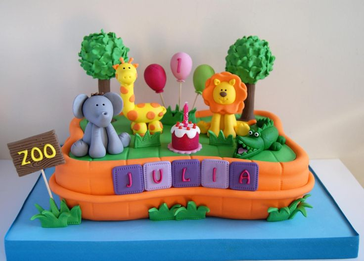 Torta Zoo de Artifondant