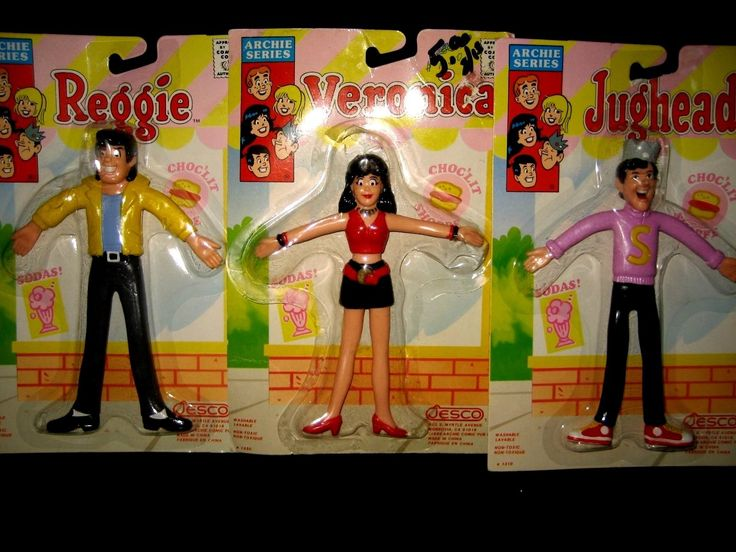 Gumby 20910: The Archies Set Of 3 Bendables By Jesco 1989 Jughead Veronica Reggie Cartoons -> BUY IT NOW ONLY: $49.49 on eBay!