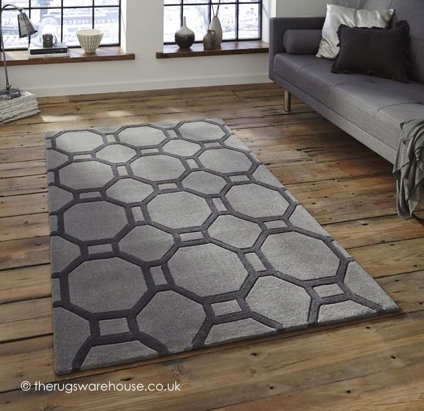 This Rug Has A Simple But Effective Contemporary Geometric Design Which Is Hand Tufted And Carved With Thick Acrylic Pile Being These Rugs Are