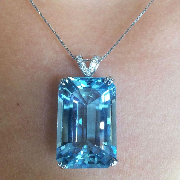 18k White Gold 29ct GIA Aquamarine and Diamond Pendant Find this18k White Gold 29ct GIA Aquamarine and Diamond Pendant at Raymond Lee Jewelers in Boca Raton — South Florida's destination for…