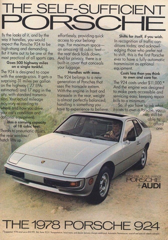 Porsche 924 ad
