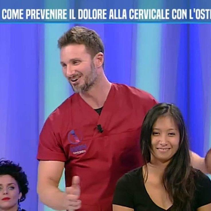 Dr Gabriele Benedetti Osteopata in diretta a Buonasera Dottore con Monica Di Loreto