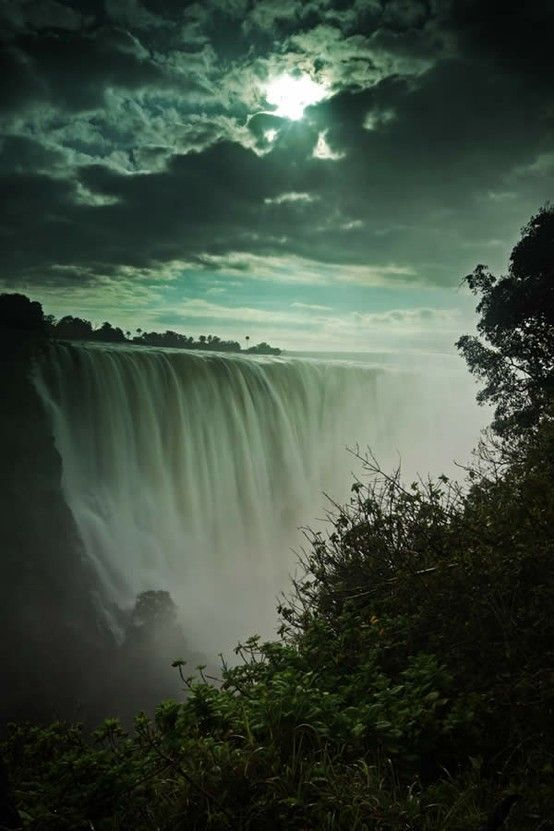 Victoria Falls between Zambia and Zimbabwe by mollie