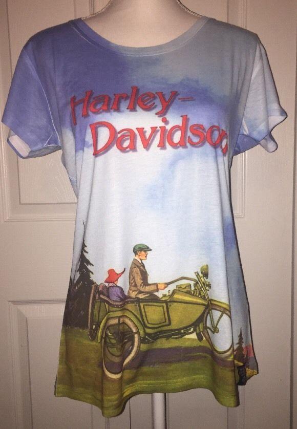 Harley Davidson Museum Shirt Women's Size 2xl XXL Vintage Picture NWOT  | eBay