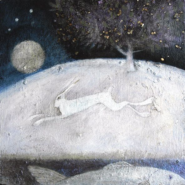 Country Living / Catherine Hyde Prints and Cards / 'The Galloping Hare' Greetings Card