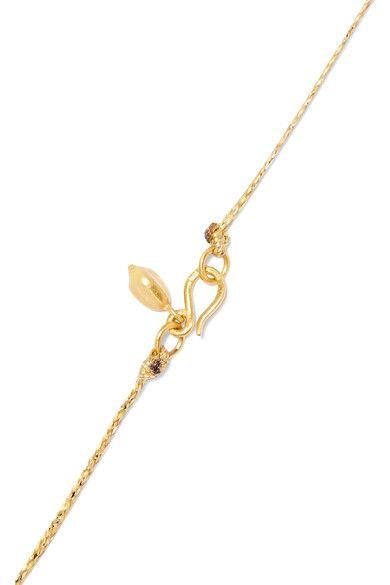 Pippa Small - 18-karat Gold Labradorite Necklace - one size
