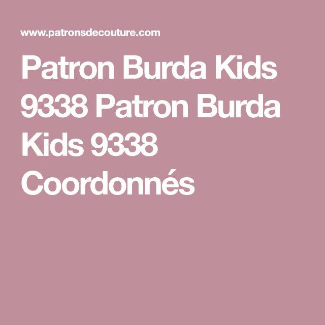 Patron Burda Kids 9338 Patron Burda Kids 9338 Coordonnés