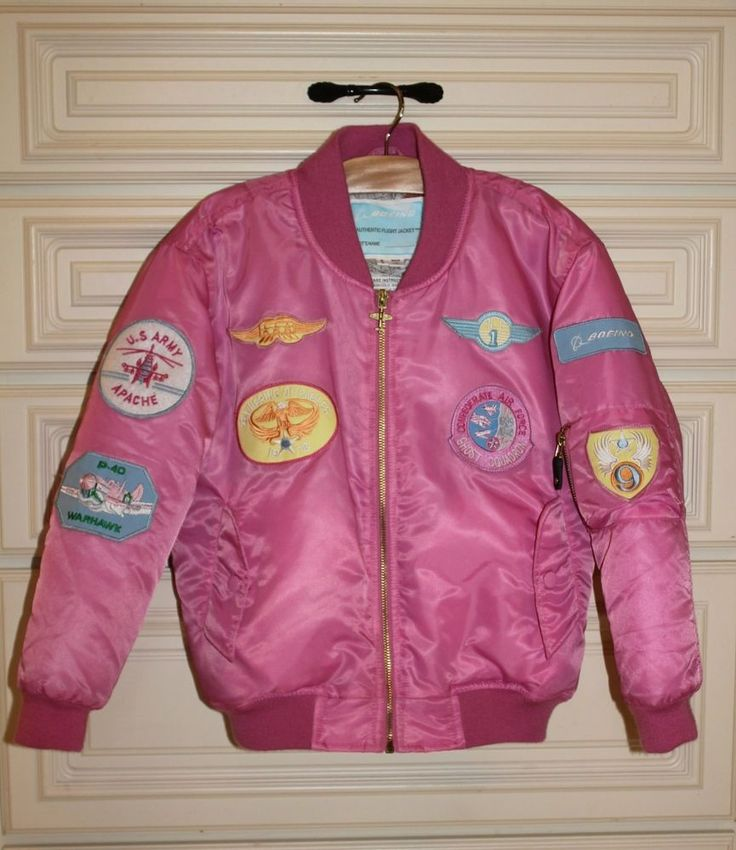 BOEING Girls Pink FLIGHT JACKET Coat Youth Size 8 or 6 7/8 ...