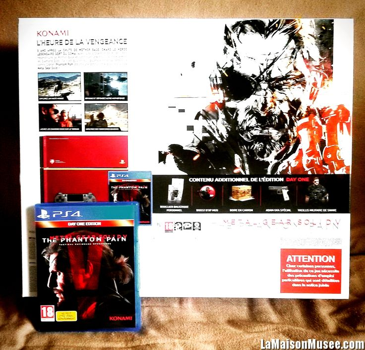 Serie PS4 MGS V The Phantom Pain Collector http://lamaisonmusee.com/