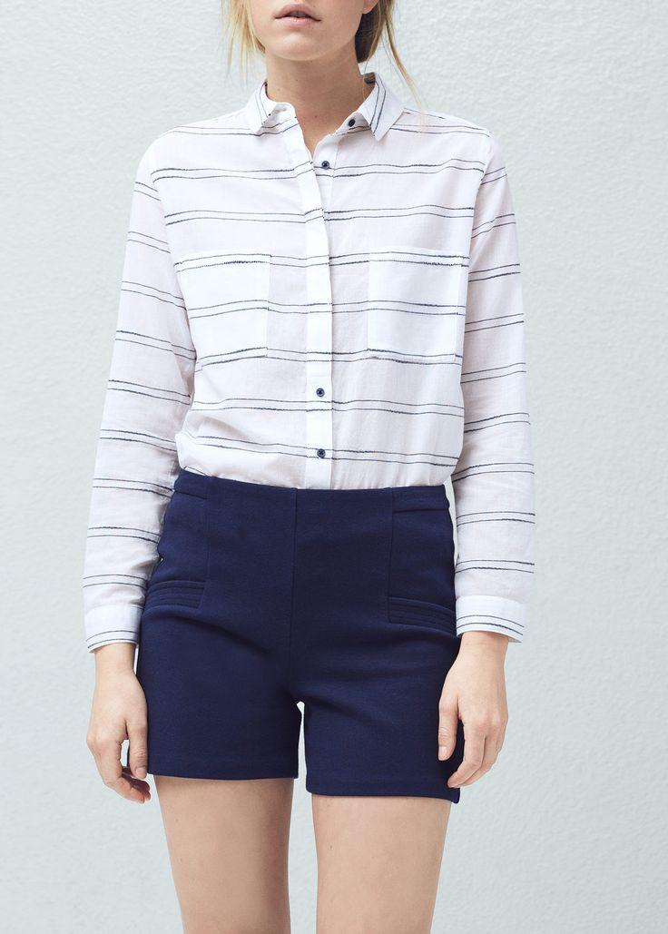 Shorts aus baumwoll-mix - Hosen für Damen | MANGO
