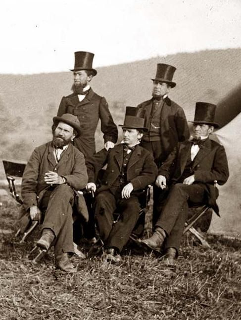 President Lincoln's Secret Service Above we show a moving photo of Antietam, Maryland (vicinity). Major Allan Pinkerton, Secret Service Department and friends. It was made in 1862 by Gardner, Alexander, 1821-1882.