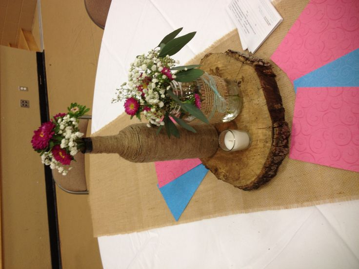 "Rustic table decorations  ""His Revolutionary Love"" teen event Brazos Christian…"