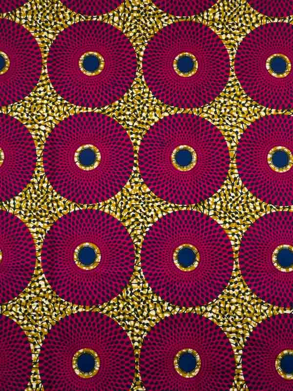 African Fabric Real Wax Print 6 Yards 100% Cotton rwb201146
