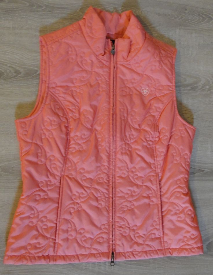 Ariat Women's Soft Shell Vest. Monarch style,Carnation color. Size Medium. Brand New With Tags.$100 available now at ChicCentSations eBay Store.