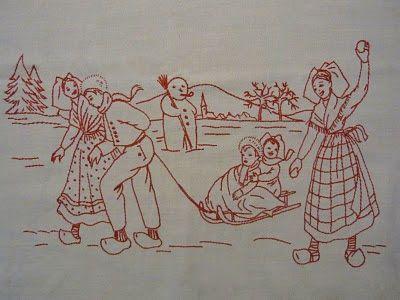 Aah La broderie alsacienne populaire au rouge d'Alsace: BONNE ANNÉE 2011