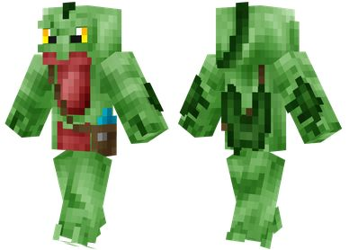Grovyle Skin. Green lizard type of Pokemon.