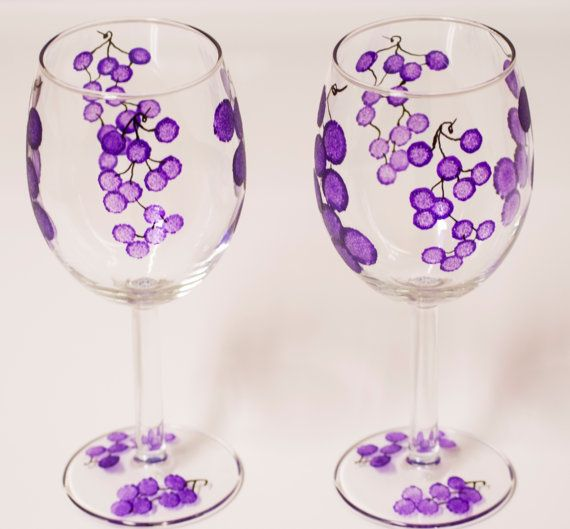MOTHER'S DAY gift Wine Glasses wedding gift by Turtlesandpeace