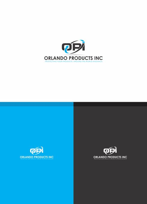 create a modern high tech logo for Orlando Products Inc. that shows our custom foam packaging design by TEConcept