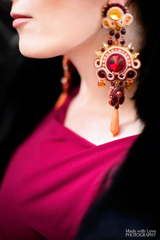 large clip on earrings made by Atelier Magia