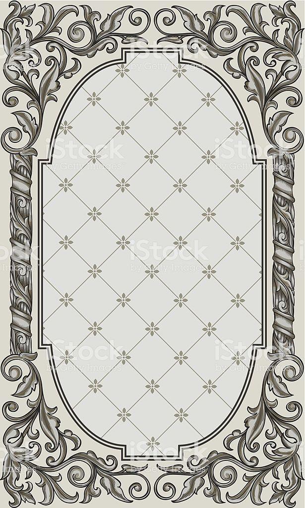Design Element Rectangle Vintage Frame Vector Artwork Vector Artwork Vintage Frames Free Vector Art