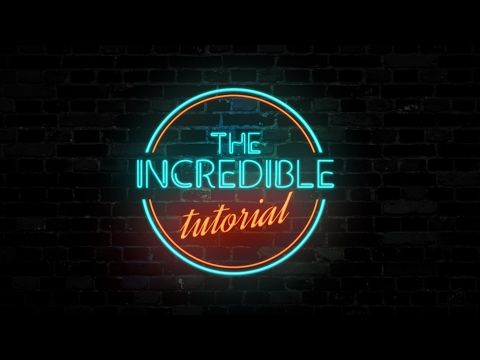 Neon Text Animation in After Effects - After Effects Tutorial - Simple Way