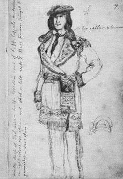 Sketch of Red River man