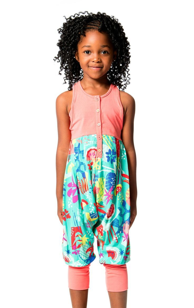 With a solid jersey top and a printed viscose bottom, the Cold Press Fashion Jumpsuit is bursting with color and style. This one-piece jumpsuit features a relaxed fit with a sleeveless jersey bodice, a racerback with sporty mesh trim, a button front placket, and colorful fruit print pants. Shop now at deuxpardeux.com #kidsstyle #dress #littlegirl #kidsfashion #littleboy #kidswear Follow our Pinterest page at @deuxpardeuxKIDS