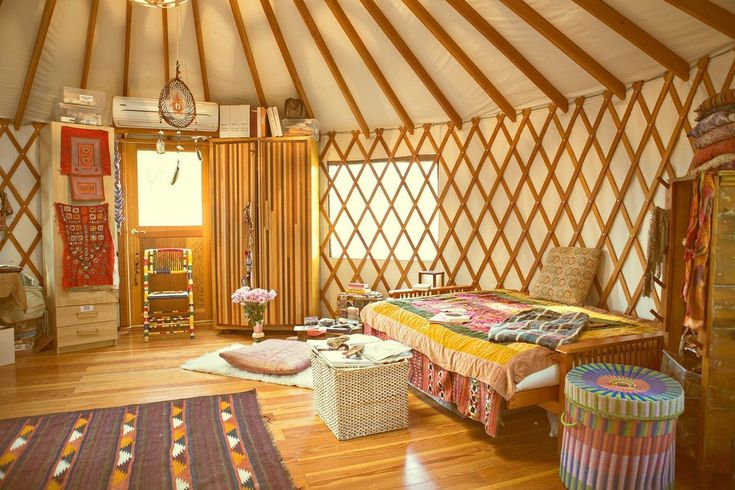 Erin and Nathan's Boho Backyard Dream Office in a Yurt House Tour | Apartment Therapy