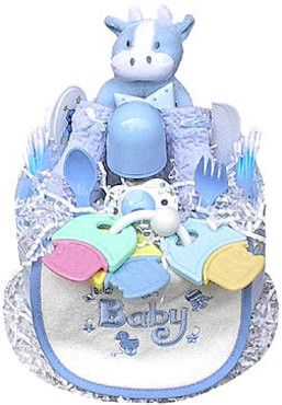 Baby Boy Bear Diaper Cake