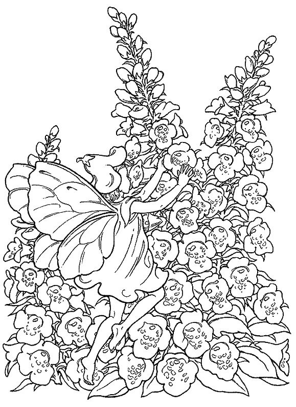 coloring pages of mystical angels - photo#29