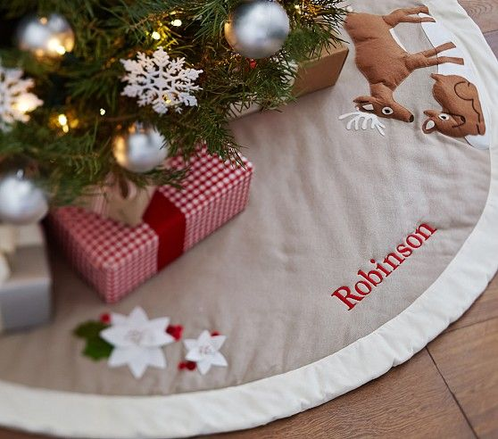 Woodland Reindeer Tree Skirt