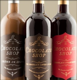 Chocolate Shop Wine - Home  Tried these at a tasting. Oh my! :-D The Chocolate Strawberry tastes just like a chocolate dipped strawberry. Please drink in moderation! ha