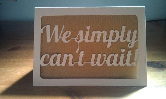 We Simply Can't Wait Wedding Acceptance Card by JessieandSquid on Etsy, £3.00