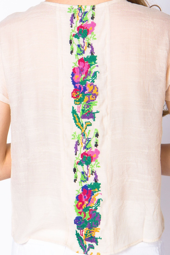 #Embroidery Tee -#sewing #stitch #needlework