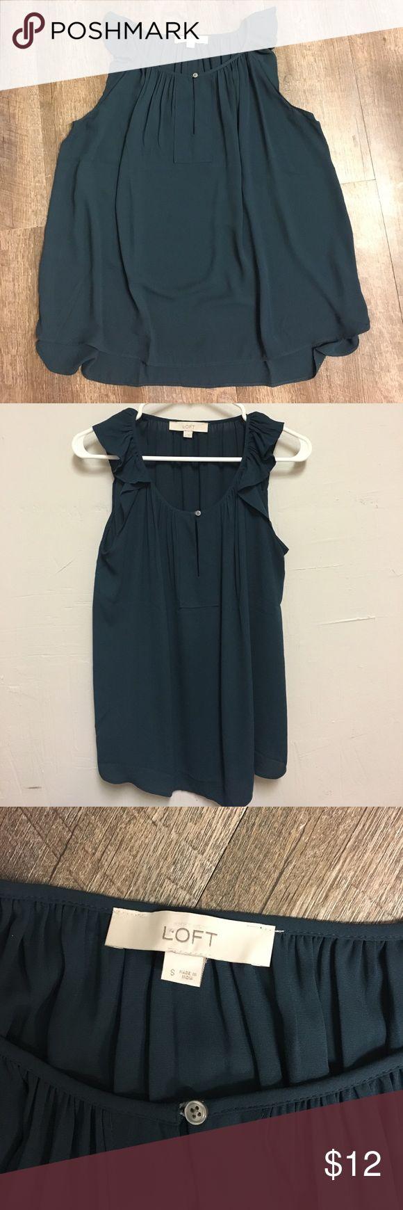 Loft (Ann Taylor Co) sleeveless top. Loft (Ann Taylor Co) dark teal, small, sleeveless top. LOFT Tops Blouses