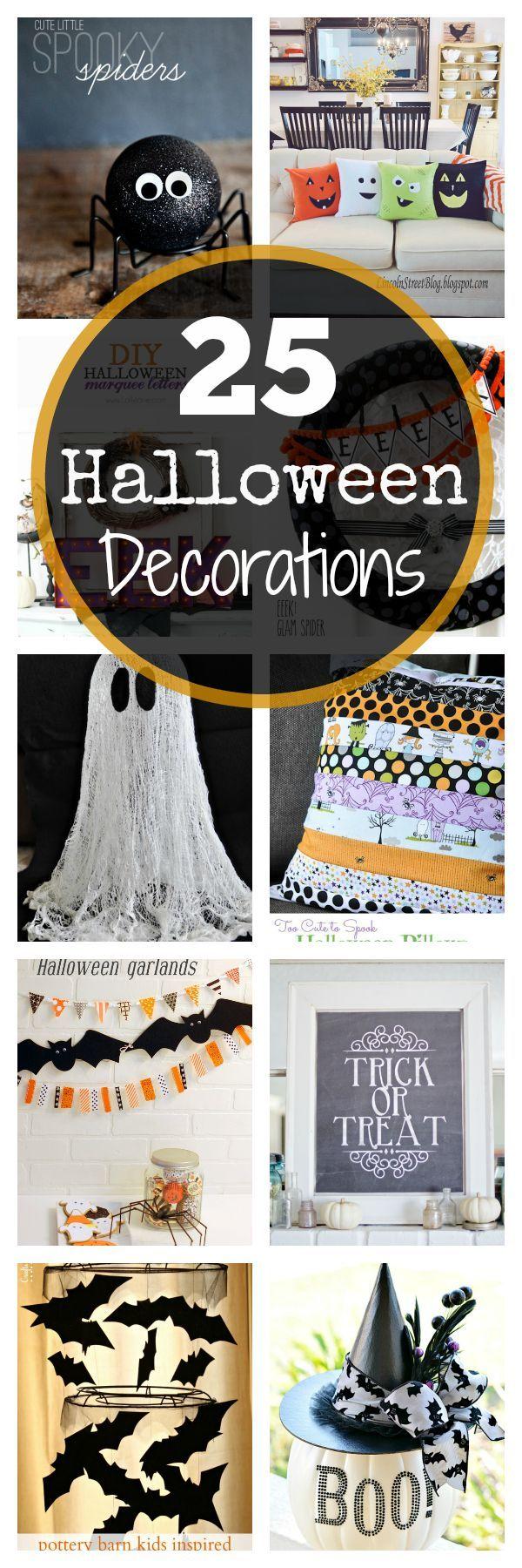 25 Halloween decoration ideas!