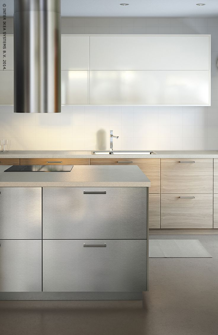 best 25 facade cuisine ikea ideas only on pinterest facade kitchen with stainless steel walnut effect drawer fronts