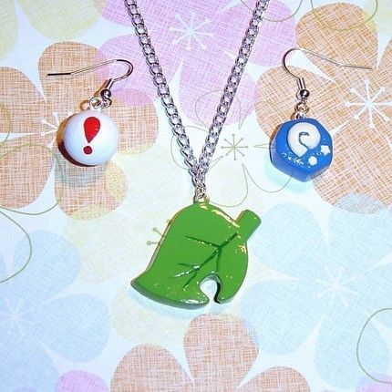 Animal Crossing themed jewelry