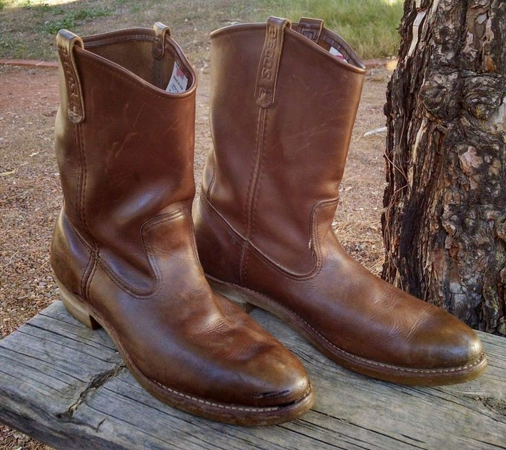 Vintage Men's Red Wing Pecos Leather Boots sz 13 D Style 1155 Work Motorcycle  #RedWing #CowboyWestern